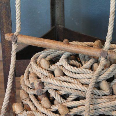 Scala da nave in legno e corda dei primi del '900