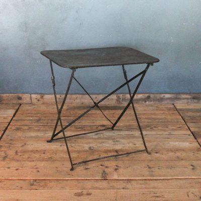 Tavolino da bistrò verde scuro anni '30
