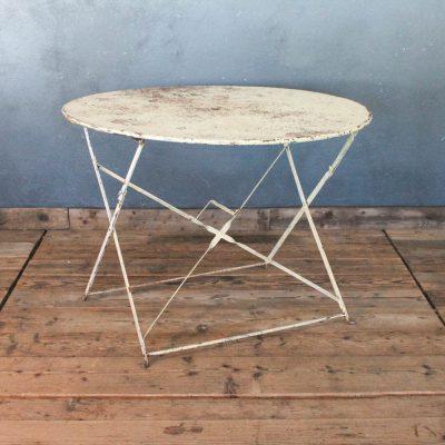 Tavolino da bistrò bianco anni '30