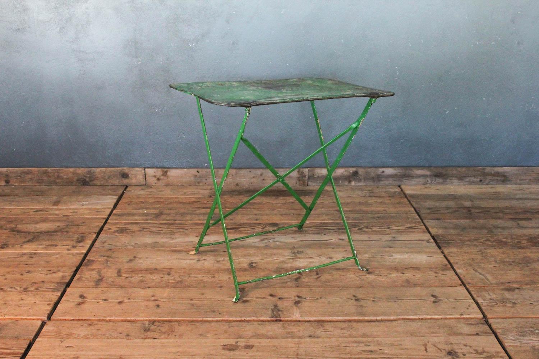 Tavolino da bistrò verde anni '30