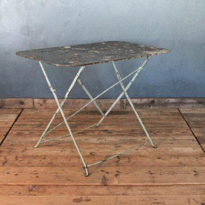 Tavolino da bistrò grigio ruggine anni '30