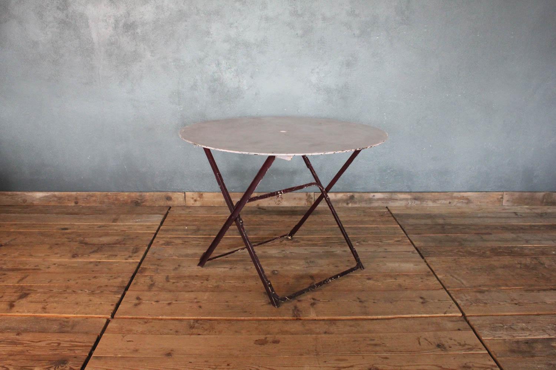 Tavolino da bistrò pieghevole colore viola