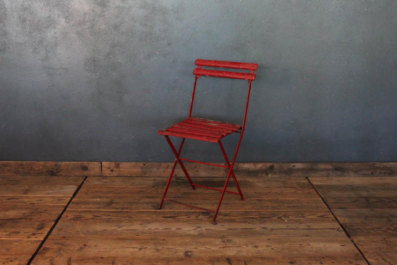 Sedia da bistrò per esterni colore rosso