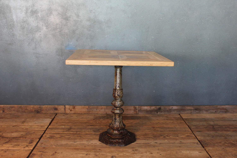 Tavoli Con Legno Di Recupero : Tavolo quadrato con base in ghisa e piano in legno la centrale