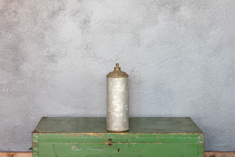 Thermos in acciaio anni 50 zincato