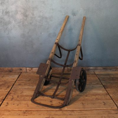 Industrial type trolley in iron and work wood of the early 1900s
