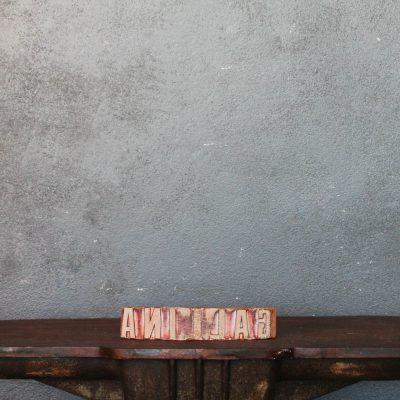 Timbro distilleria Gallina in legno