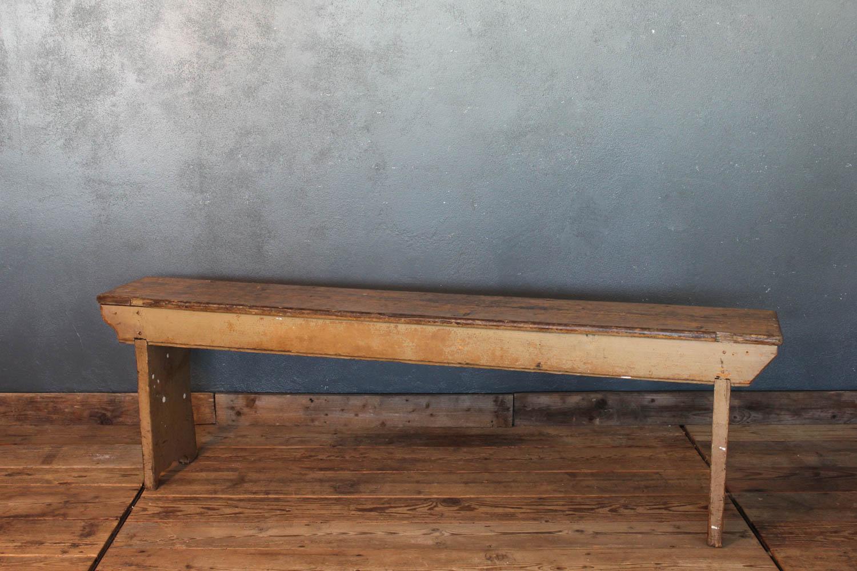 Panchina in legno di abete dei primi del '900