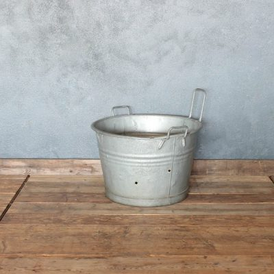 Vintage bucket in old zinc