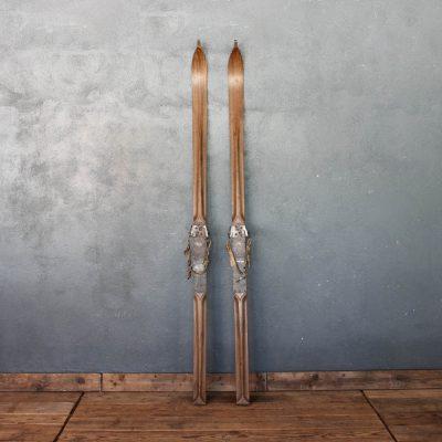 Sci in legno dei primi del '900