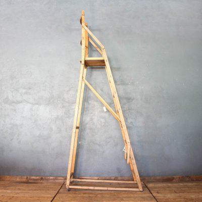 Scala in legno di abete da negozio anni '50