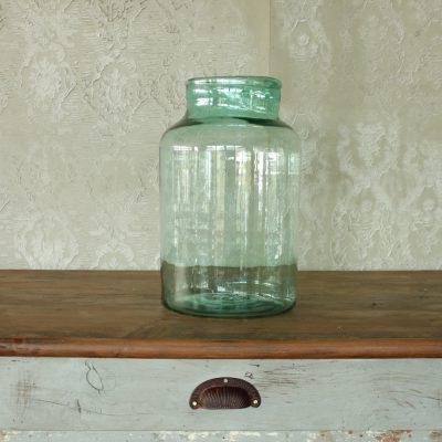 Vaso da cetriolo soffiato in vetro