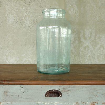 Vaso in vetro da cetriolo soffiato